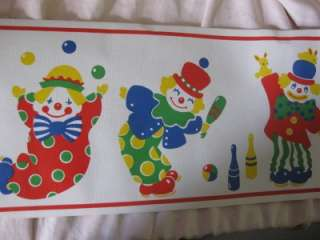 CLOWNS NURSERY TOP QUALITY WALLPAPER BORDERS BN 10M
