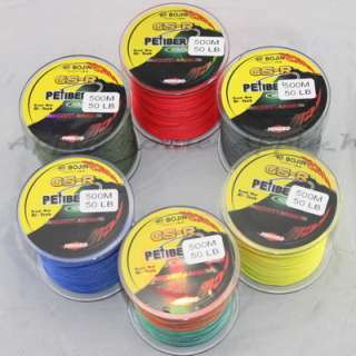 Strong 100% Dyneema Spectra Braid Fishing Line 500M 545 Yard