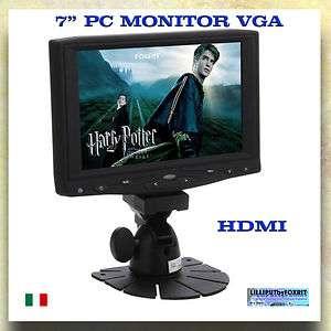 PC MONITOR LCD VGA INGRESSO HDMI PER REFLEX E VIDEOCAMERE DIGITALI