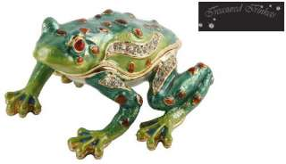 Trinkets. Collectable Novelty Frog Metal Die Cast Trinket Box Gift