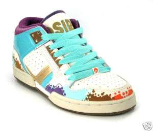 lady mid skate shoe Osiris South Bronx Ta/Mu Sizes 5 6