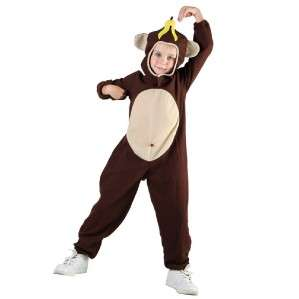 CHILDRENS BANANA MONKEY FANCY DRESS COSTUME KIDS PARTY APE GORILLA