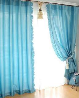 Wholesale Solid Ruffle Edge Tailored Bedroom Drape Lined Curtains
