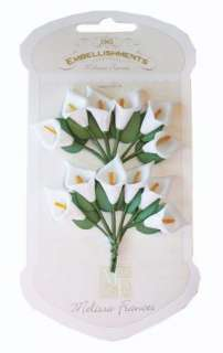 44 12508 Melissa Frances Wire Floral White Lily Detail Page