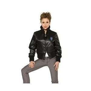 Womens Silk Satin Jacket touch(tm) by Alyssa Milano   Black Large