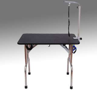 Portable Folding Pet Dog Cat Grooming Table W/ Wheels