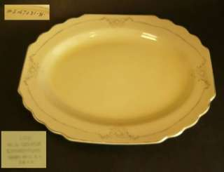 Antique Art Deco W.S. GEORGE CANARYTONE TRAY PLATE