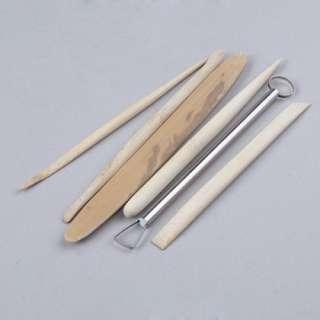 Lot 6 Outils en Bamboo pour Sculpture sur Argile