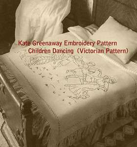 Kate Greenaway Embroidery Pattern Antique #EMB84