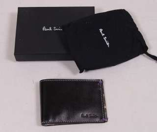 PAUL SMITH WALLET $310 BLACK LOGO SLIM TEAM CONDOR BICYCLE RACER BILL
