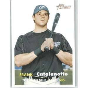 2006 Topps Heritage #17 Frank Catalanotto   Toronto Blue Jays