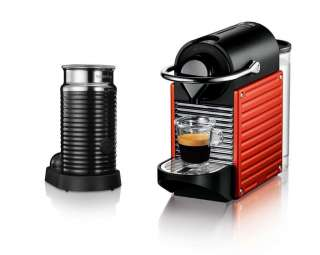 House of Fraser   Krups Pixie Red Nespresso Coffee Machine + Aeroccino
