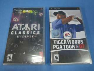 PORTABLE GAMES ATARI CLASSICS EVOLVED, TIGER WOODS PGA TOUR 07 PSP
