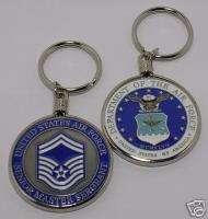 KEYCHAIN U.S. AIR FORCE SENOIR MASTER SERGEANT COIN