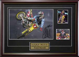 CHAD REED TEAM SUZUKI MOTOCROSS CHAMP SIGNED & FRAMED