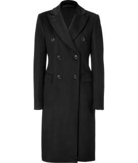 By Malene Birger Black Double Breasted Wool/Cashmere Blend Coat