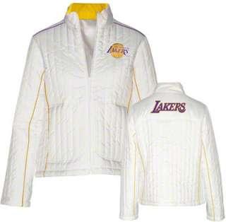 Los Angeles Lakers Womens Bombshell White Full Zip Jacket
