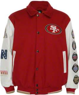 San Francisco 49ers Full Zip Commemorative Wool Varsity Jacket