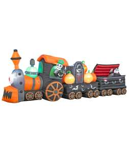 Skeleton Train Rising Ghost Airblown Inflatable