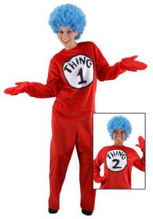 Adult Thing 1 and 2 Costume   Dr. Seuss Character Costumes