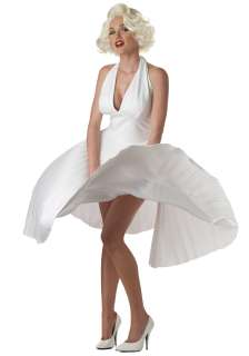 Teen Marilyn Monroe Deluxe White Dress   Teen Marilyn Monroe Costumes