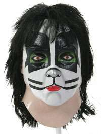 Catman Latex Full Mask   Official KISS Costume Accessories