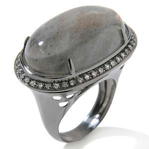 Yours by Loren Labradorite and White Topaz Sterling Silver Ring