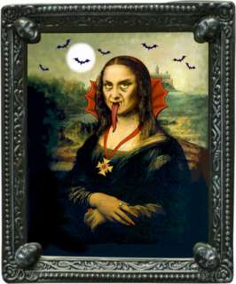 This full color 10.25 x 12.25 Mona Lisa Lenticular Lenses Portrait