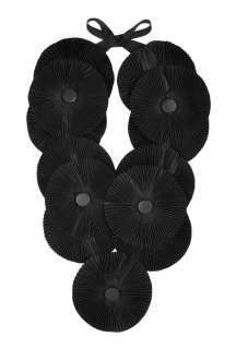 Black Salisbury Pleated Neckpiece By Malene Birger   Black   Buy
