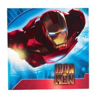 Iron Man 2 Lunch Napkins   Package includes 16 lunch napkins. Each 2