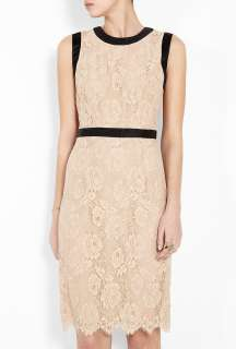 Milly  Marcella Bow Shift Short Sleeve Lace Dress by Milly