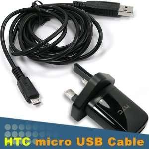[UK Pin Prong Standard] Original OEM Genuine HTC USB Main