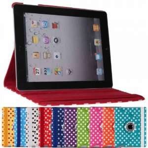 360¡ã Rotating stand View Polka Dots Leather Case Smart