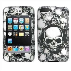 Apple Ipod Touch 2nd 3rd Generation Black White Skull 2D
