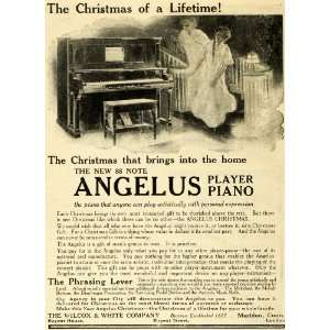1910 Ad Christmas 88 Note Angelus Player Piano Musical