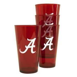 Alabama Crimson Tide Plastic Pint Glass Set