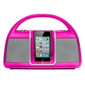 GPX Portable Dock for iPod with AM/FM Radio  Pink