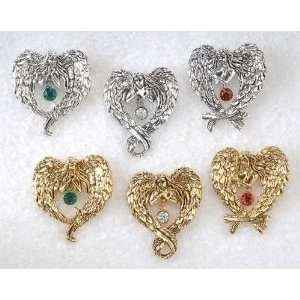 New   Club Pack of 36 Christmas Jewelry Silver & Gold Angel Wings
