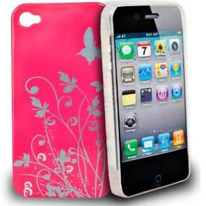 com Mobile Palace   pink and silver design hard case cover for apple
