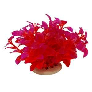 Plastic Aquarium Plants Fish Tank Decoration, Red/Purple Pet Supplies