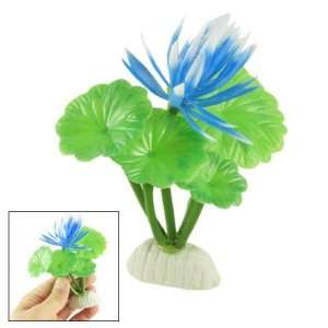 Como Fish Tank Aquascaping Blue Waterlily Green Artifical