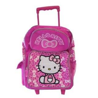 Kitty Rolling BackPack   Sanrio Hello Kitty Large Rolling School Bag