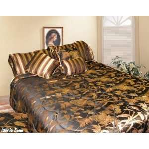 7pcs King Black Jacquard Comforter Bed in a Bag Set
