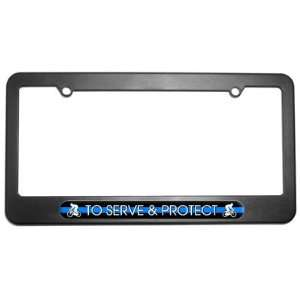 Bicycle Bike   Thin Blue Line Police License Plate Frame Automotive