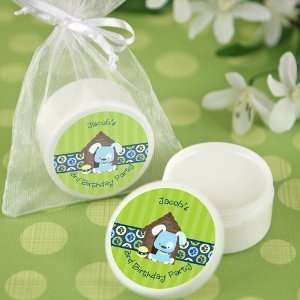 Boy Puppy Dog   Lip Balm Personalized Birthday Party Favors Baby