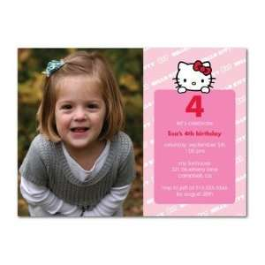 Birthday Party Invitations   Hello Kitty Silly Stripes By