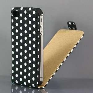 Black and White Polka Dot Pattern PU Leather Flip Case