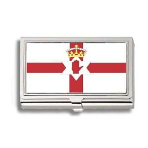 Northern Irish Flag Business Card Holder Metal Case Office Products