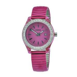 bracelet Pink Case & Dial Crystallized bezel Watch Fossil Watches