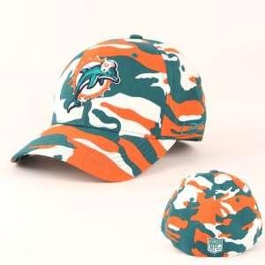 Miami Dolphins Flex Fit Camouflage Camo Hat Cap Lid